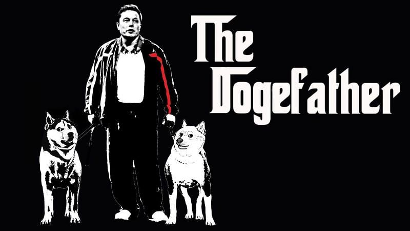 "Илон Маск пампит Догикоин Elon ""The Dogefather"" Musk"
